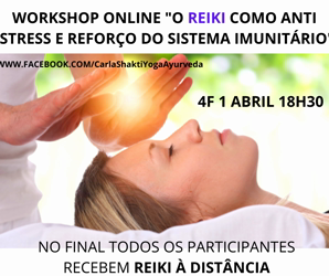 Portugal: Workshop ONLINE Reiki como Anti Stress e Reforço Imunitário