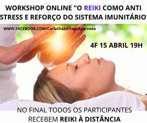 Portugal: Workshop ONLINE Reiki como Anti Stress e Reforço Imunitário