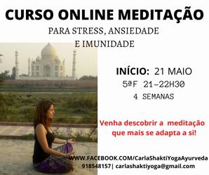 Portugal: CURSO ONLINE DE MEDITAÇÃO c/ Carla Shakti