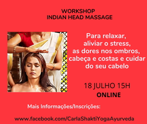 Portugal: Workshop ONLINE Indian Head Massage – c/ Carla Shakti