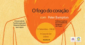 Portugal: Lançamento do livro e conversas sobre o Fogo do Coração – c/ Peter Bampton – Lisboa