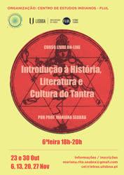 Portugal: Curso ONLINE – Introdução à História, Literatura e Cultura do Tantra c/ a Prof.ª Mariana Seabra – pelo Centro de Estudos Indianos • Faculdade de Letras de Lisboa