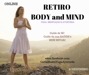 Portugal: RETIRO ONLINE BODY AND MIND – CONECTA-TE! – c/ Carla Shakti