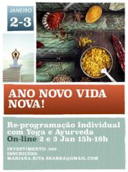Portugal: Re-Programação Individual com Yoga e Ayurveda – ONLINE – c/ a Prof. Doutora Mariana Seabra