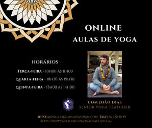 Portugal: Aulas de Yoga Online com João Dias