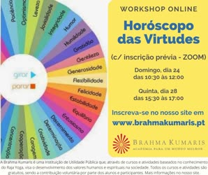Portugal: WORKSHOP ONLINE  Horóscopo das Virtudes – Brahma Kumaris