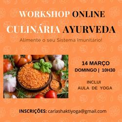 Portugal: Workshop ONLINE Culinária ayurveda – Boost Sistema Imunitário com aula Yoga