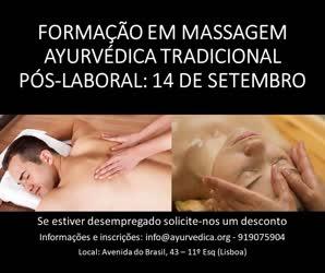 Portugal: Massagem Ayurvédica Tradicional: formação pós-laboral na ALBA